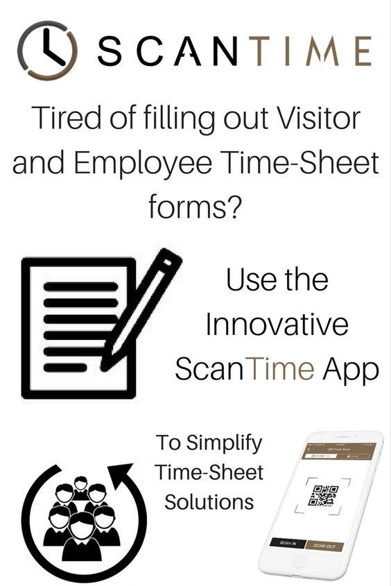 Worried about Employees Hours? You need the ScanTime System  App to - visitor sign in sheet template