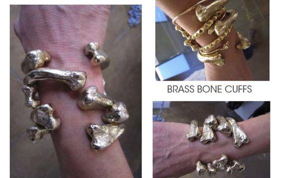 Brass Bone Cuffs-Jennifer Fisher