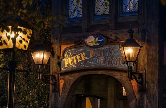 Twilight Flight to Neverland - Peter Pan's Flight at Fantasyland in Disneyland