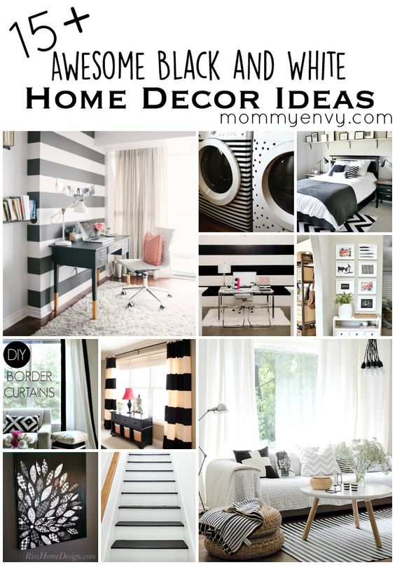15+ Black and White Home Decor Projects Awesome, Furniture and Facts