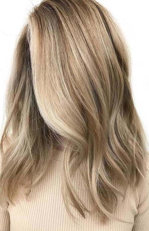 warna rambut blonde beige