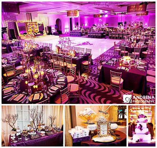 Purple And Gold Wedding Decor Nhsonline