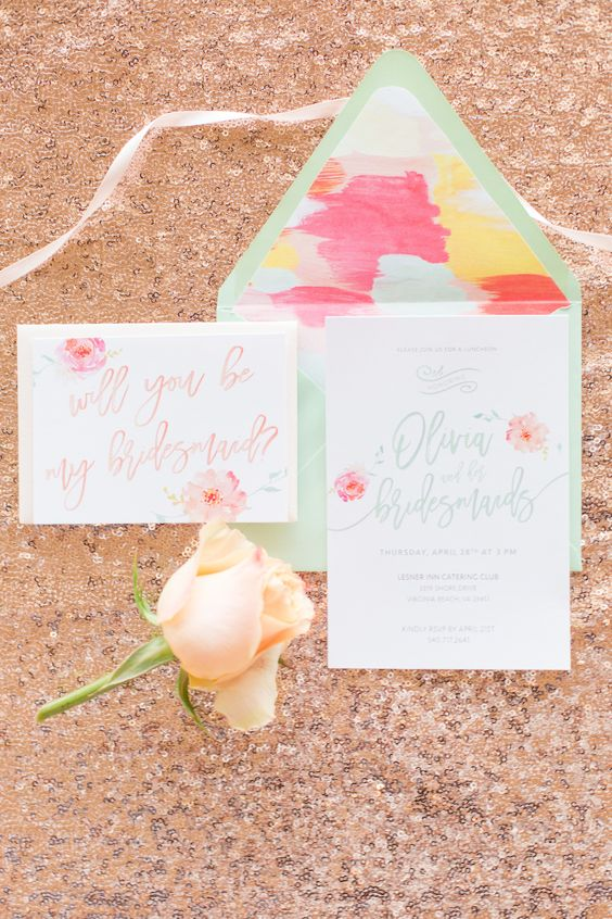 Let's Wed Hampton Roads Bridesmaid Luncheon Invitation Suite by Angie McPherson Photography