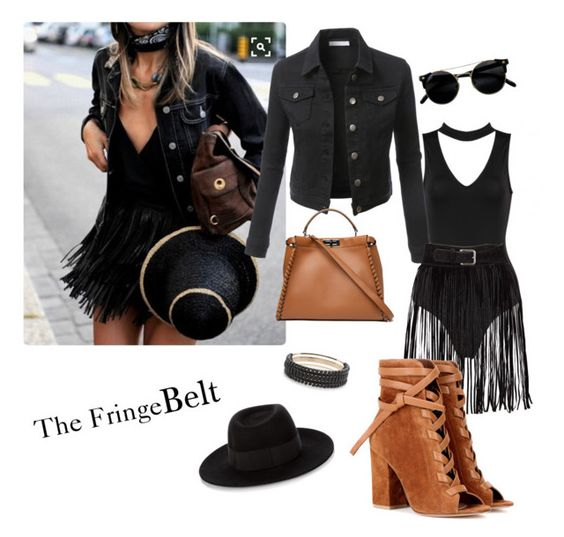 """""""festival vibes"""" by jbarry711 on Polyvore featuring LE3NO, Pluma, Gianvito Rossi, Fendi and Maison Michel"""