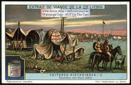 Asian Hun Army War Wagon Camp 440 AD c1917 Card