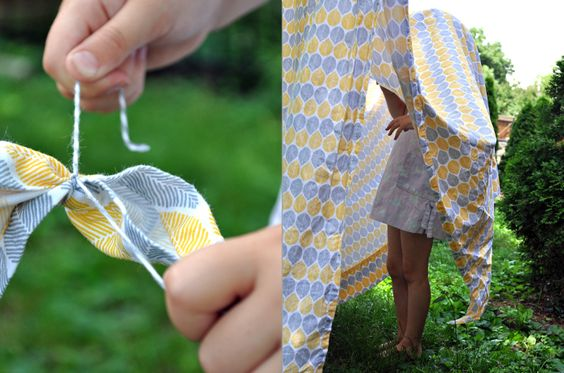summer tents - want to try this on a larger scale for our 4th of July party.
