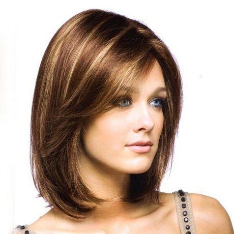 Modele Coupe De Cheveux Visage Rond Coiffure Coiffure Mi Long Cheveux Mi Long