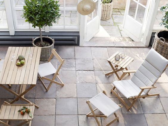 ガーデン アウトドア サンルーム テーブル コーディネート例