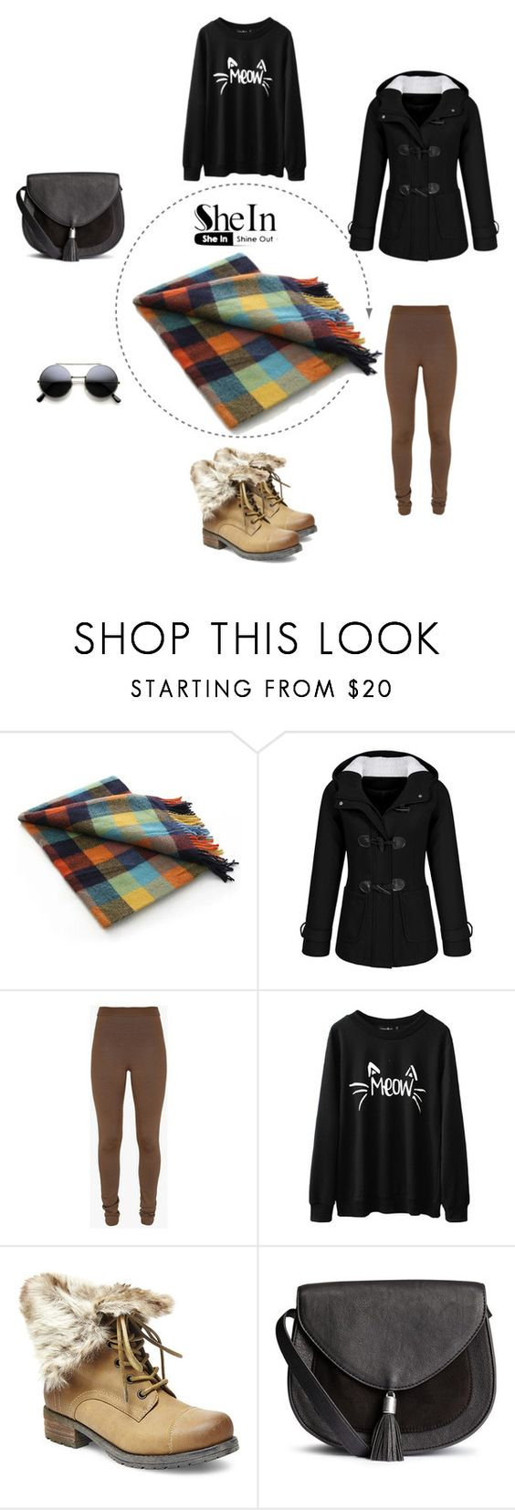 """""""Multicolor-Plaid-Tassel-Classical-Scarve"""" by dajana92 ❤ liked on Polyvore featuring Balmain, Steve Madden, women's clothing, women's fashion, women, female, woman, misses and juniors"""