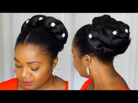 Natural Hair Bridal Hairstyles Twisted Bun Tutorial Short Natural Hair Updo 4c Hair You Natural Hair Updo Natural Hair Styles Natural Hair Updo Wedding