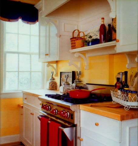 Yellow Blue And Red Kitchen Stovetop Dream Home