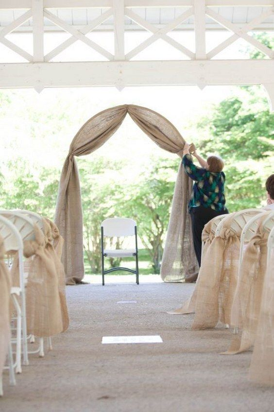 Top 20 Rustic Burlap Wedding Arches Backdrop Ideas Roses Rings Part 2 Arch Decoration Wedding Wedding Arch Rustic Rustic Burlap Wedding