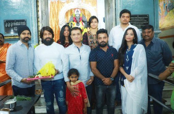 Yash At KGF Chapter 2 Movie Pooja Stills