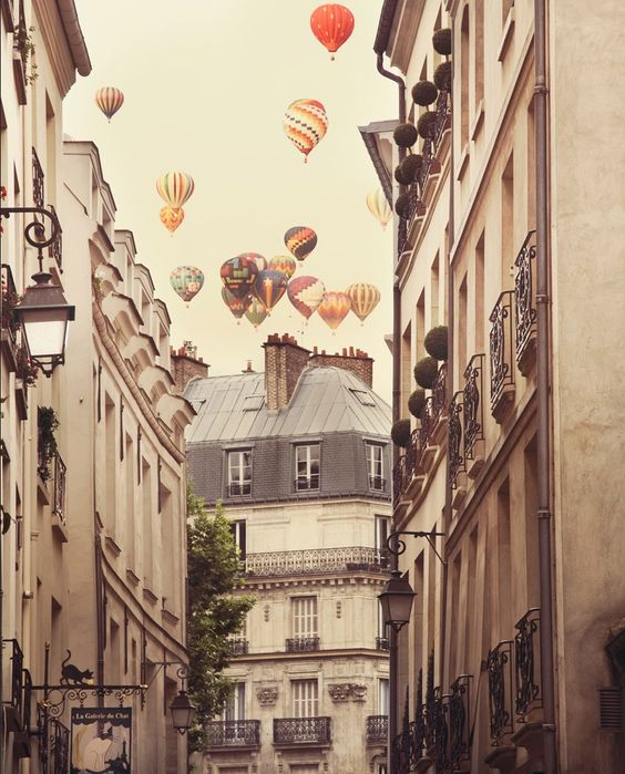 Paris by irene suchocki #hotairballoon