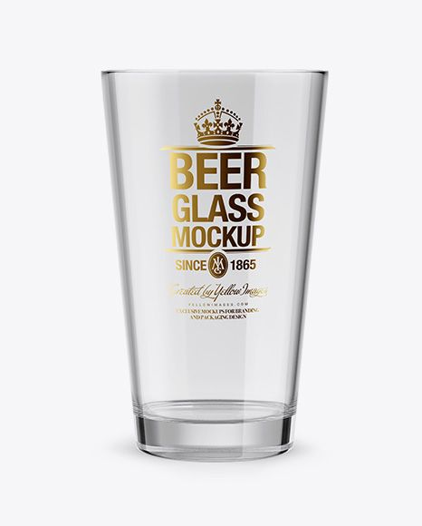 Empty Beer Glass Mockup In Cup Bowl Mockups On Yellow Images Object Mockups Mockup Free Psd Mockup Mockup Psd