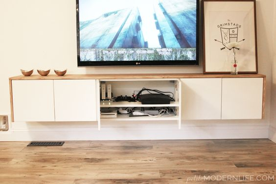 diy floating sideboard tutorial doors search and tutorials. Black Bedroom Furniture Sets. Home Design Ideas