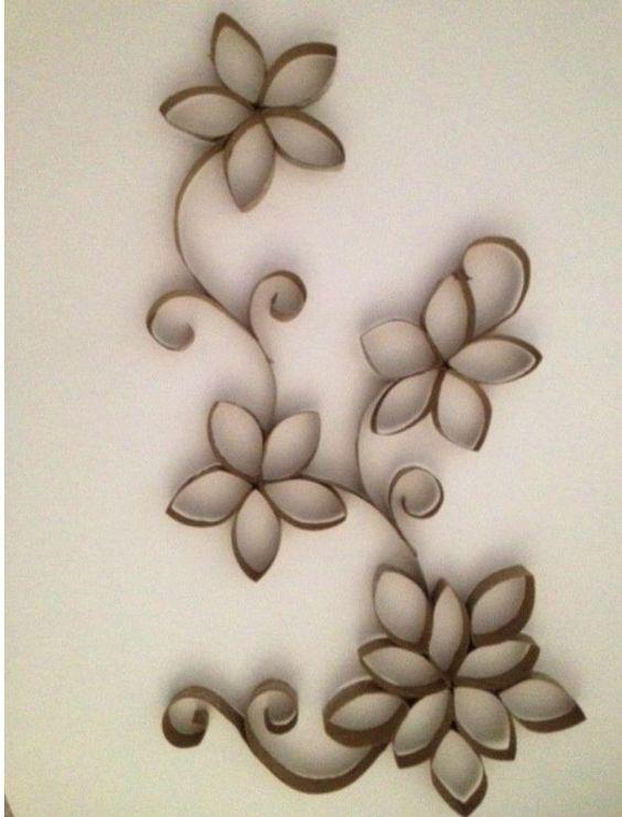Flores de tubito del papel del ba o buscar con google ideas para el hogar pinterest navidad - Papel para bano ...