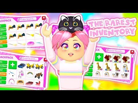 The Rarest Inventory In Roblox Adopt Me The Rarest Items Ever Youtube Roblox Games Roblox Adoption