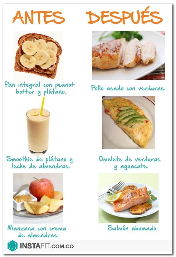 Qu comer antes y despu s de hacer ejercicio comida - Cenas saludables para bajar de peso ...