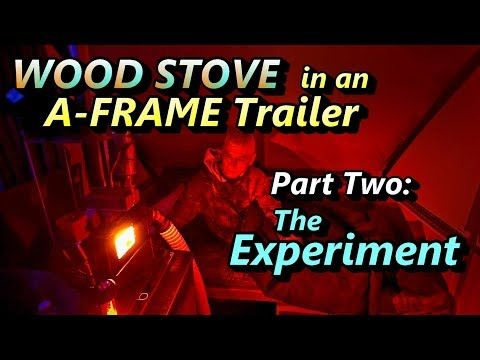 Wood Stove In An A Frame Trailer Part 2 Youtube A Frame Trailer Wood Stove Stove