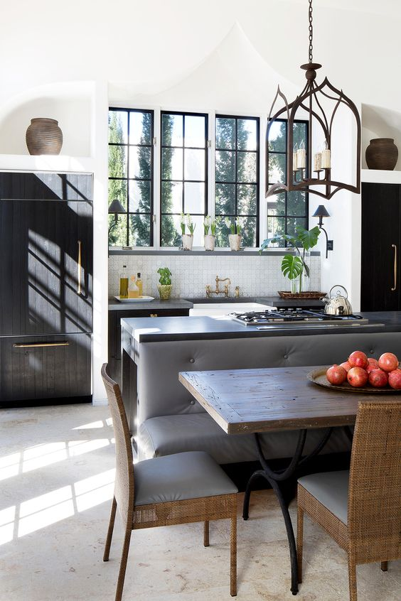 Our Best Breakfast Room Banquette Ideas Kitchen Island And Table Combo Kitchen Island Dining Table Booth Seating In Kitchen