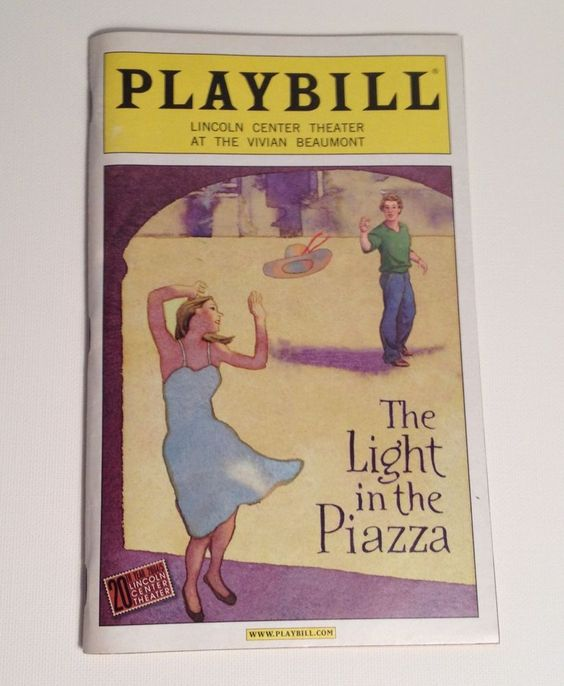Playbill 2006 Lincoln Center Theater Vivian Beaumont The Light in the Piazza