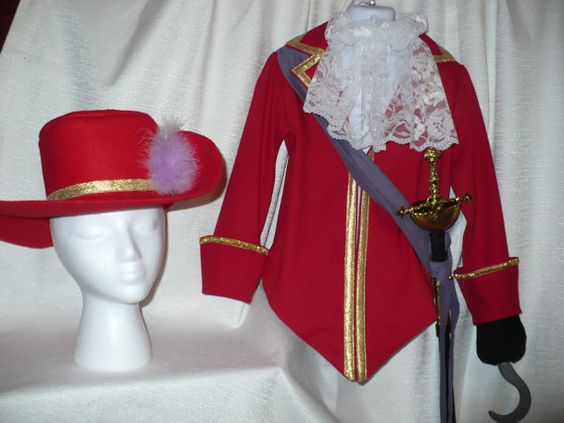 Disney inspired Captain Hook Costume for by SoSewMimi on Etsy, $80.00