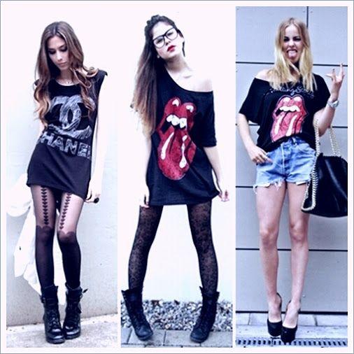 garotas rock in roll