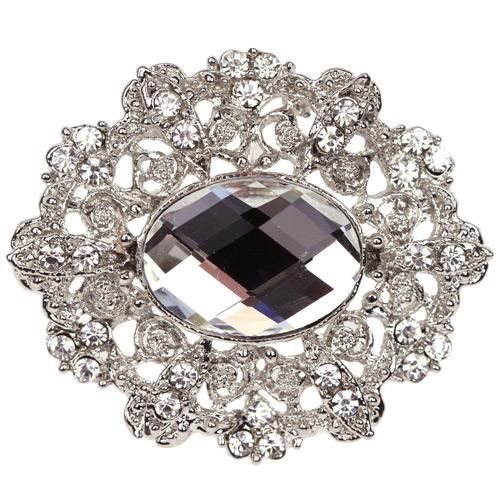 Marquise Diamante Embellishment Silver Vintage Victorian – Card Making Wedding Invitations