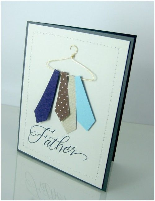 father's day card using geometrical shapes