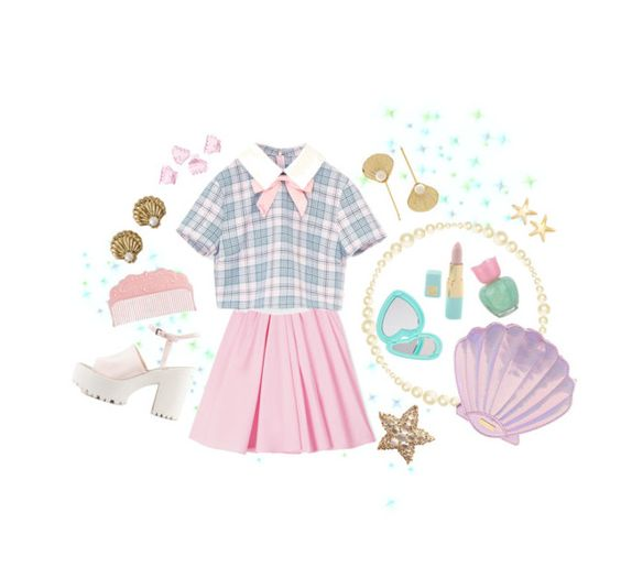 """Magical girl mermaid"" by minteabunny ❤ liked on Polyvore featuring Carven, Forever 21, Estée Lauder, Juicy Couture, Nly Shoes, Etude House, Pomellato, Signature Gold, H&M and Rosantica"