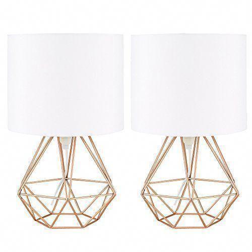 Pure Escena Del Dormitorio De Lujo Glamdecoraciondeldormitorio Cage Table Lamp Copper Table Lamp Glamourous Bedroom