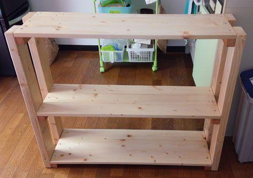 Diyの基本 spf材で棚製作 模様替え 棚 家具のアイデア