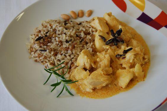 Receita de Frango Uau! Com limão e curry (tipo Indiano).