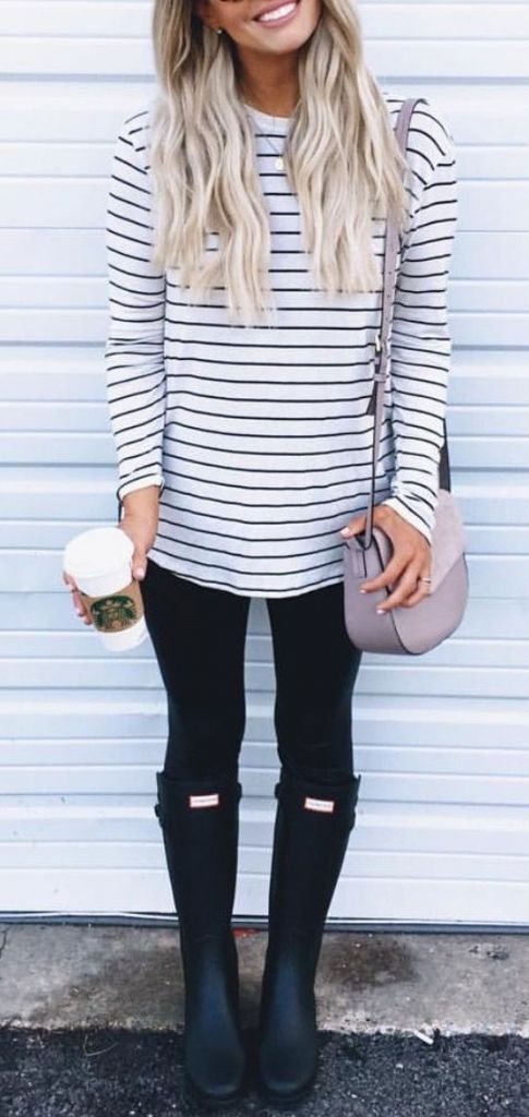 #fall #fashion / stripes: