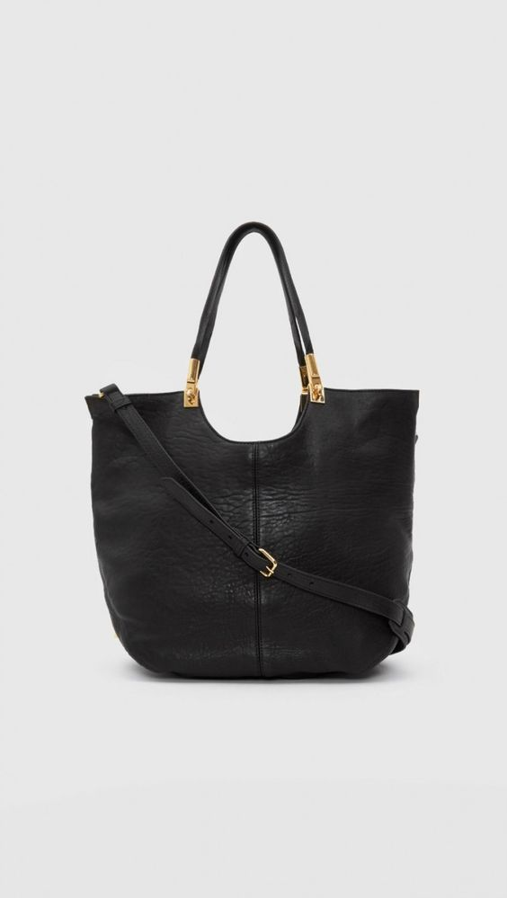 Elizabeth and James Convertible Shopper in Black | The Dreslyn