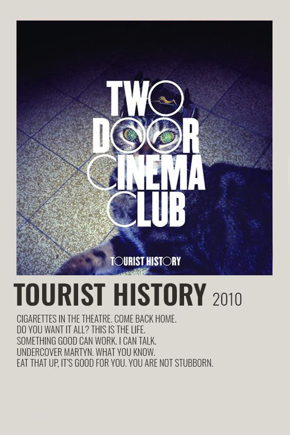 Two Door Cinema Club Tourist History Poster In 2020 Music Poster Poster Film Poster Design