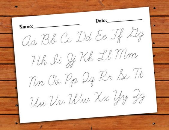 cursive writing alphabets pdf writer