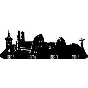 Weltmeisterst�dte von Deutschland - Alle St�dte in den Deutschland Fu�ball Weltmeister geworden ist in von Bern in der Schweiz 1954, M�nchen 1974 �ber 1990 Rom bis hin zu Rio de Janeiro 2014 in Brasilien.