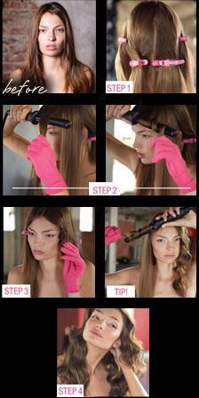 "Couture Curls ""How To"" step-by-step guide featuring The award-winning Bombshell Rod Curling Iron!"