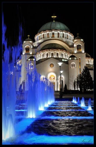 Cathedral of Saint Sava, Belgrade, Serbia:  largest Orthodox church in the Balkans.