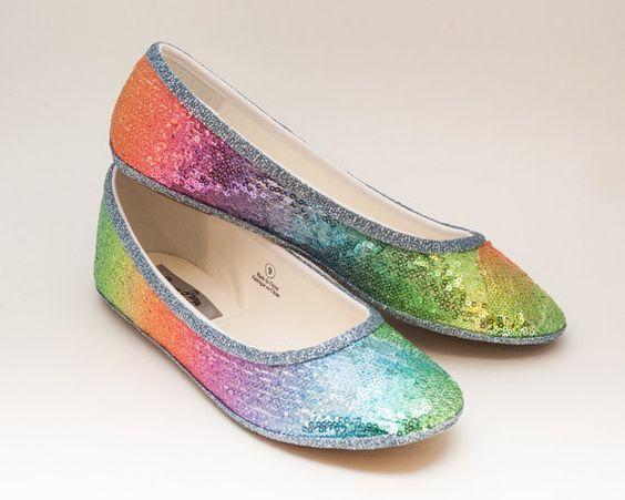 Arco iris de lentejuelas con estampado Ballet por princesspumps