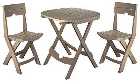 Amazon Com Adams Manufacturing 8590 96 3731 Quik Fold Cafe Set Portobello Garden Outdoor 3 Piece Bistro Set Bistro Set Metal Table