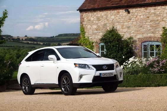 """The new Lexus RX 450h F Sport is the first RX to adopt sportier styling and handling. It's easily distinguished frrom the rest of the range with its stronger exterior styling, in particular the treatment of the new Lexus """"spindle"""" grille design, and its 10-spoke F Sport alloys. Interior features include sports pedals, aluminium-effect trim inserts and scuff plates, smooth leather upholstery, an F Sport steering wheel, head-up display and a black roof lining. It also gains LED headlamps with…"""