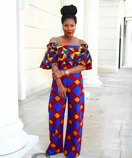2019 Lovely and Trendy Ankara Jumpsuit Styles