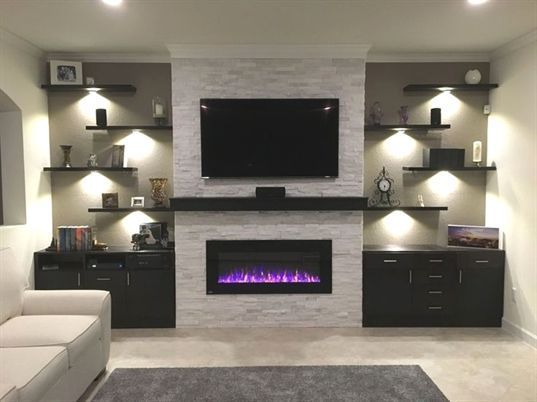 Pin By Agnes Zielen On Family Room In 2021 Trendy Living Rooms Living Room With Fireplace Living Room Tv Wall