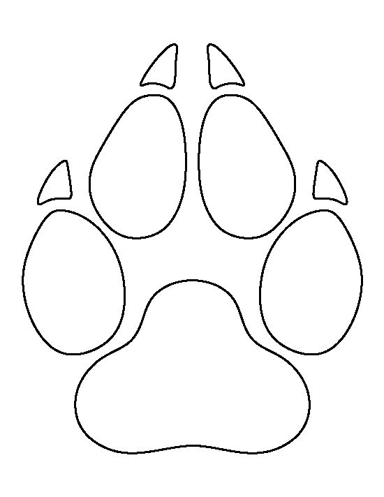 wolf paw print pattern use the printable outline for crafts  creating stencils  scrapbooking Paw Print Logo Black Dog Paw Print