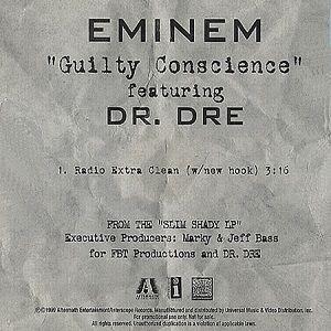 Eminem, Dr. Dre – Guilty Conscience (single cover art)