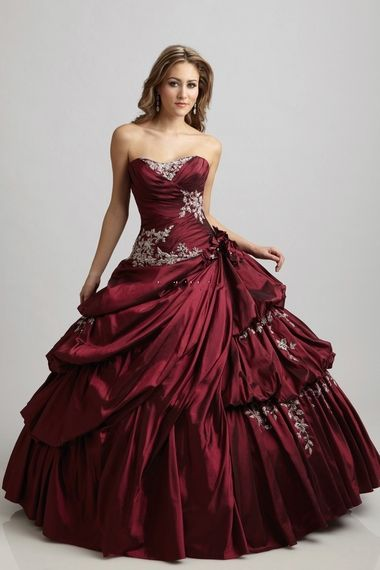 Pretty 2012 Prom Dresses Plus Size Prom Dresses New Arrival Hot Selling Red Ball Gown online shop affordable for fashion