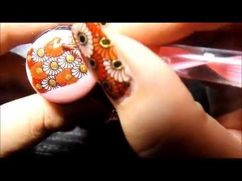 Autumn inspired nails! Advance Nail Stamping Technique. - YouTube